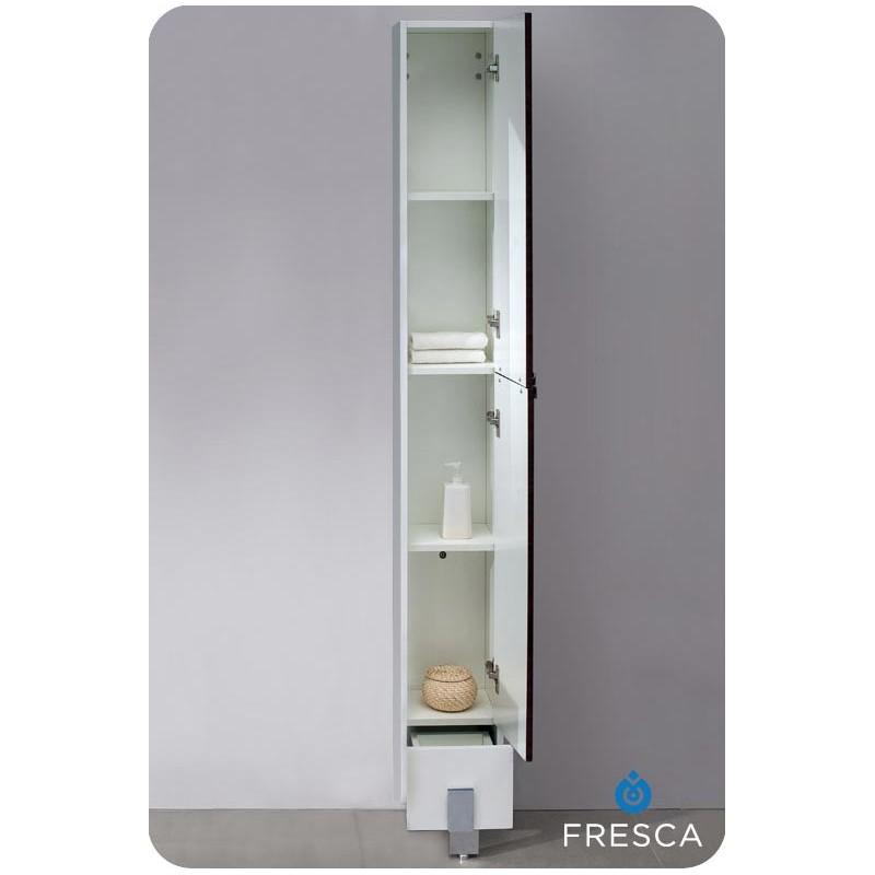 bath storage cabinets fresca adour dark walnut bathroom linen