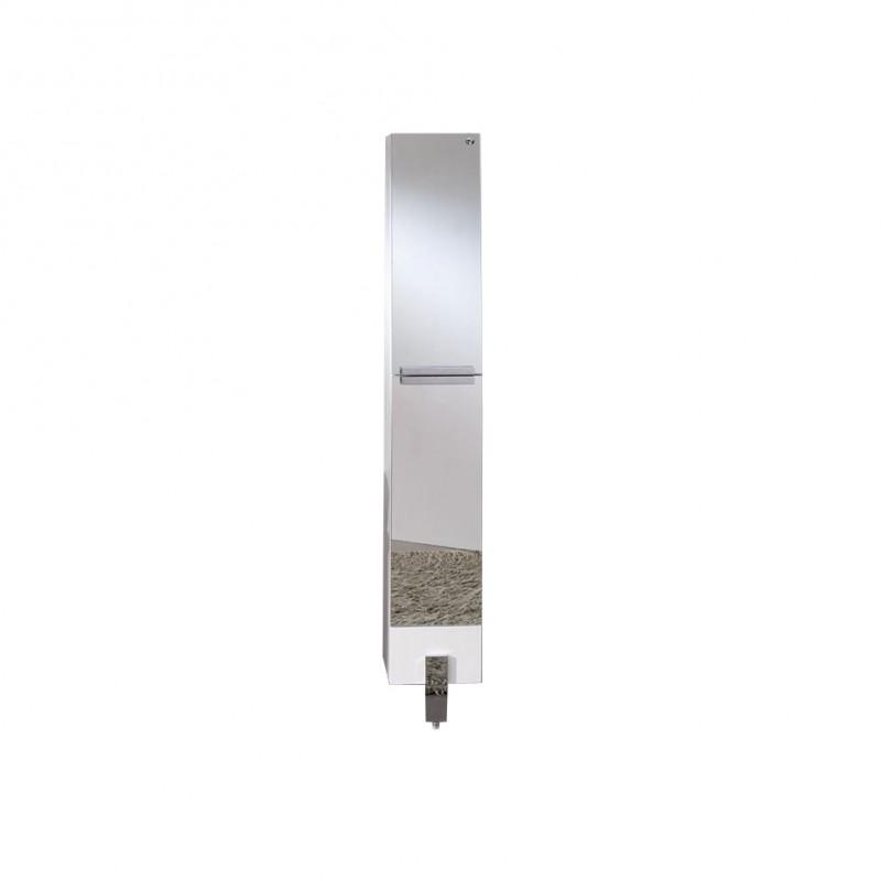 bath storage cabinets fresca adour mirrored bathroom linen side