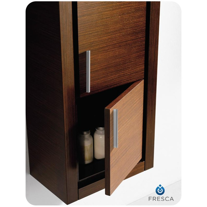 bath storage cabinets fresca wenge brown bathroom linen side