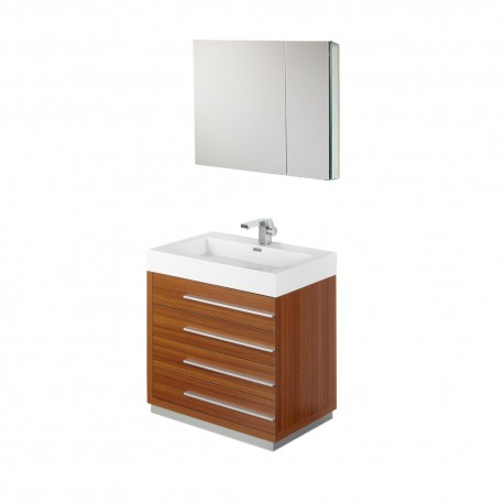 bath bathroom vanities fresca livello 30 teak modern bathroom