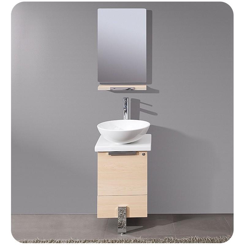 Fresca Adour 16 Light Walnut Modern Bathroom Vanity W