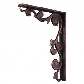 MCOR2-DBAC Metal (Iron) Floral Bar Bracket. Finish Antique Copper
