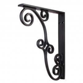 MCOR3-BLK Metal (Iron) Rustic Bar Bracket. Finish Black