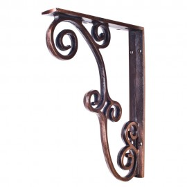 MCOR3-DBAC Metal (Iron) Rustic Bar Bracket. Finish Antique Copper