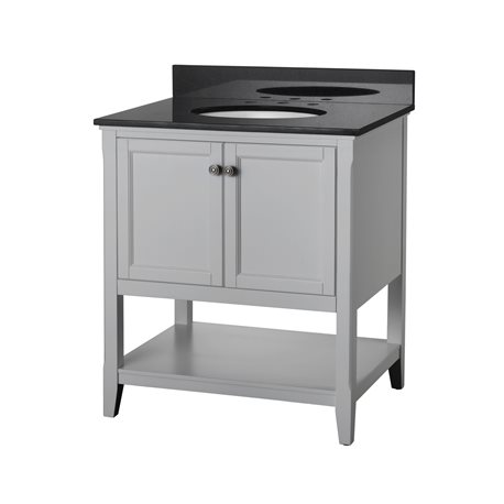 Auguste 30 inch bathroom vanity in grey with two doors and for Bathroom vanity display for sale