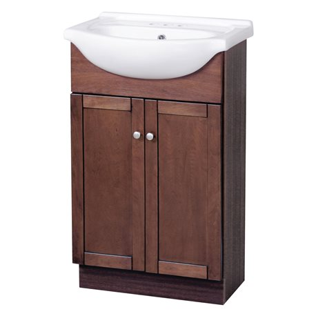 Bath Bathroom Vanities COLUMBIA 22 INCH CHERRY EURO BATH VANITY