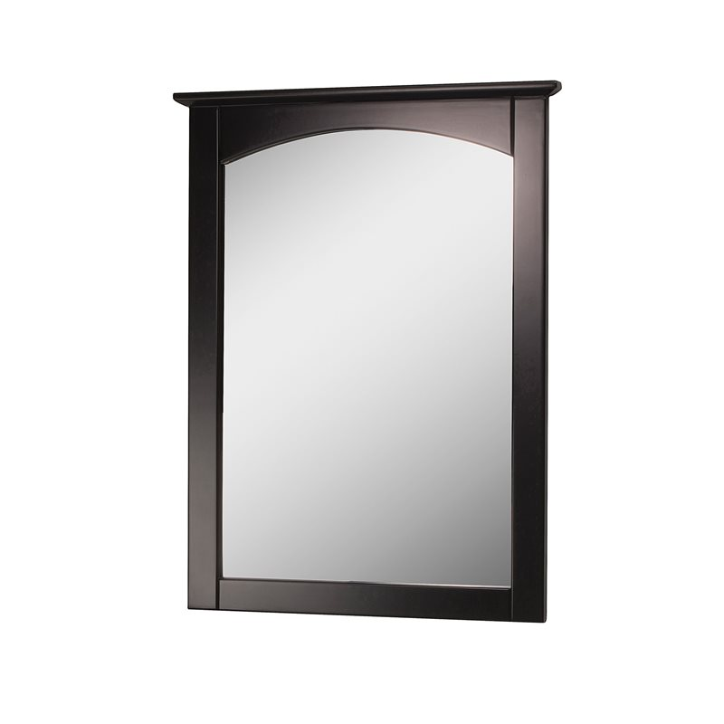 columbia 21 inch espresso bathroom mirror
