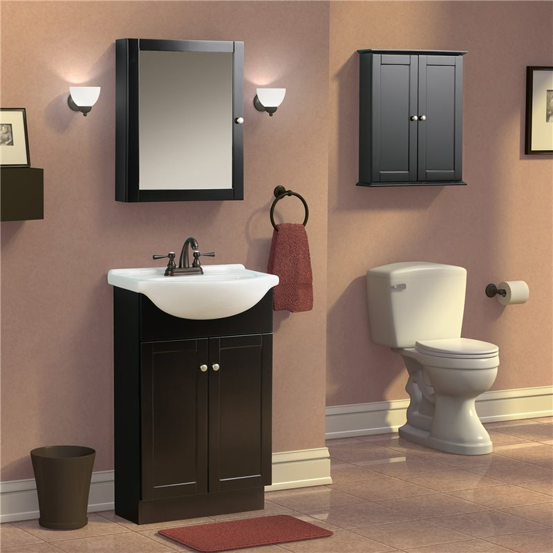 Bath Bathroom Vanities COLUMBIA 22 INCH ESPRESSO EURO BATH VANITY