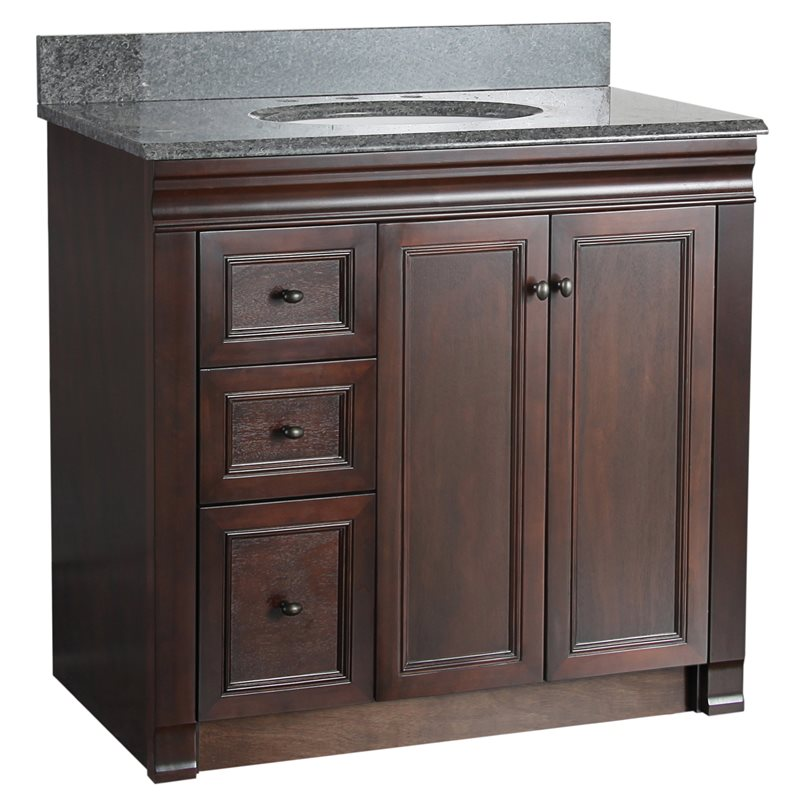 Left Side Sink Vanity : ... Bathroom Vanities > SHAWNA 36 INCH TOBACCO BATH VANITY WITH LEFT SIDE