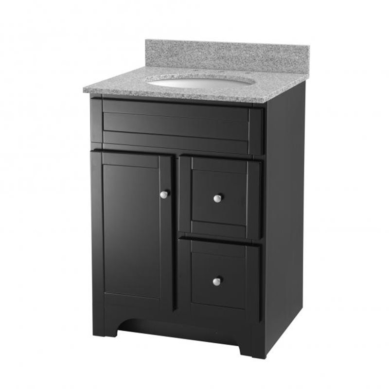 Unique Collection WCVW00924SWHCMUNDM24 Centra 24 Inch Single Bathroom Vanity