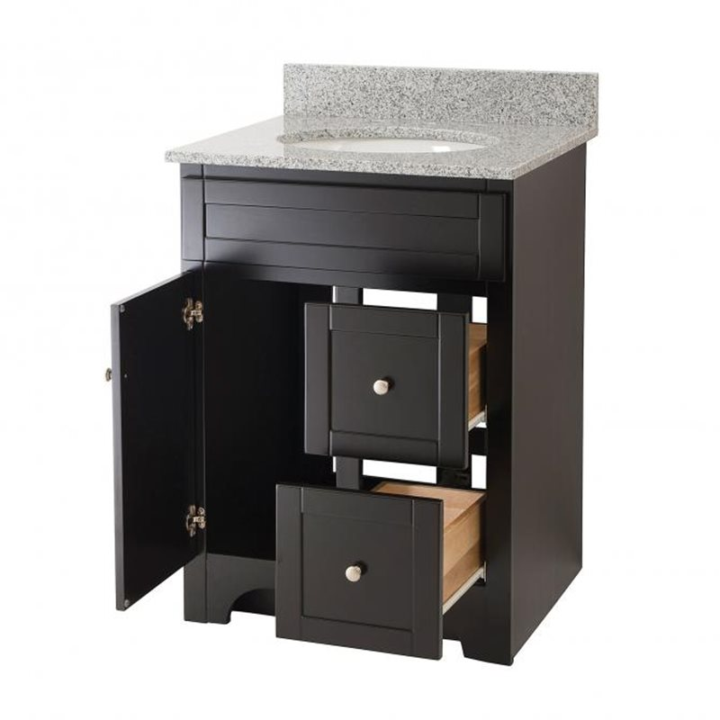 Beautiful Simpli Home Chelsea Black Bathroom Vanity 24 Inch NLRosseauES242A