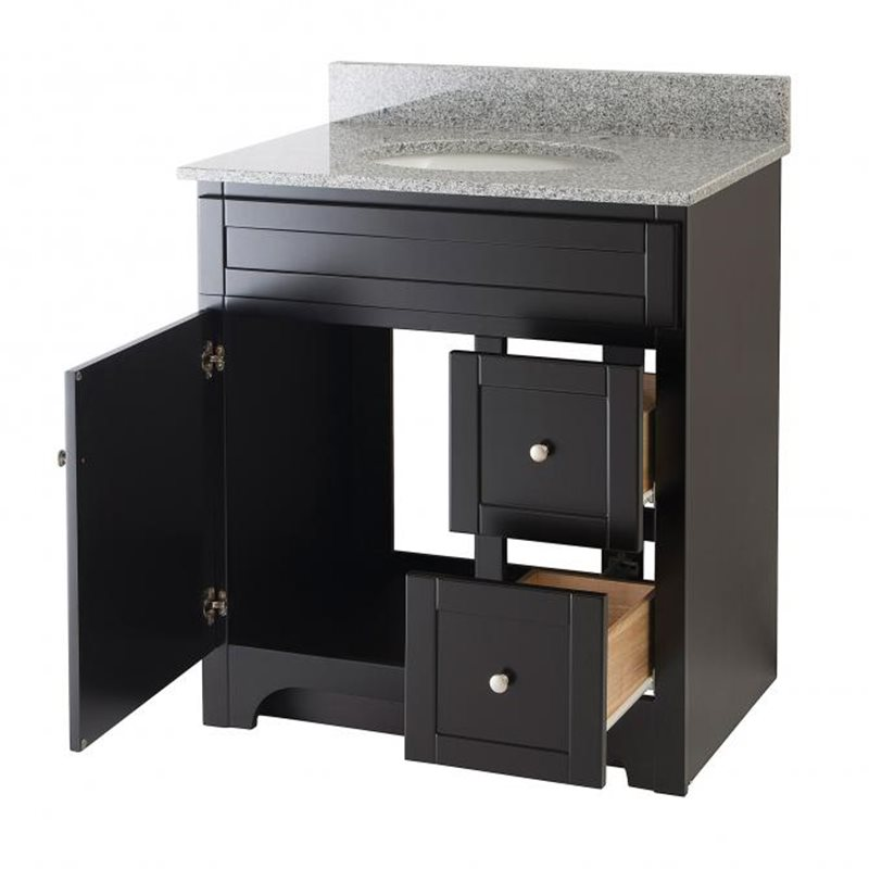 Worthington 30 inch espresso bathroom vanity burroughs for Bathroom 30 inch vanity