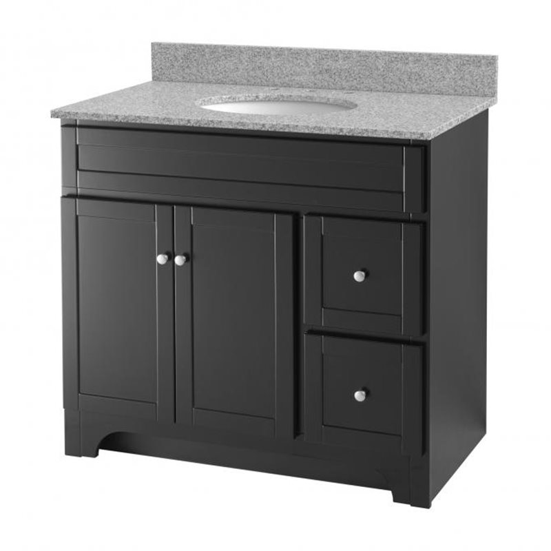 Worthington 36 inch espresso bathroom vanity burroughs for Bathroom 36 vanities