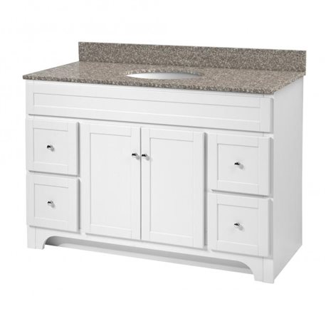 Worthington 48 inch white bathroom vanity burroughs for Bathroom 48 inch vanity