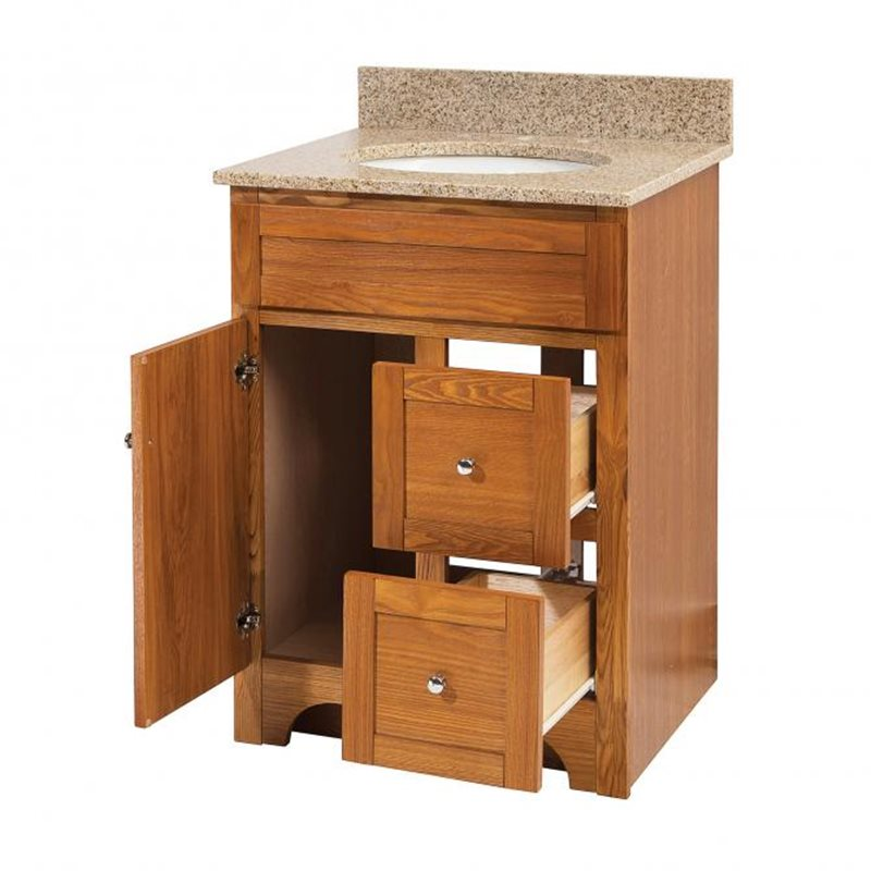WORTHINGTON 24 INCH OAK BATHROOM VANITY Burroughs Hardwoods Online Store