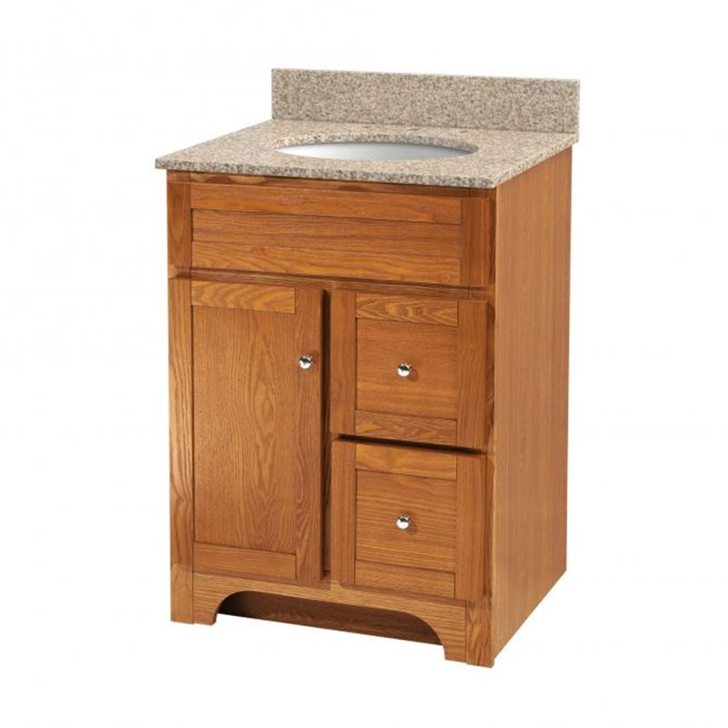 Worthington 24 inch oak bathroom vanity burroughs for Bathroom 24 inch vanity