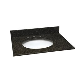 31 INCH UBATUBA GRANITE VANITY TOP WITH PRE-ATTACHED VITREOUS CHINA SINK