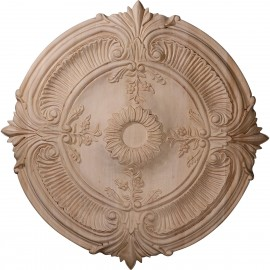 "24""OD x 2 1/4""P Carved Acanthus Leaf Ceiling Medallion"