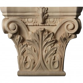 "Large Floral Roman Corinthian Capital (Fits Pilasters up to 6 1/4""W x 2""D)"