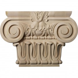 "Large Bradford Roman Ionic Capital (Fits Pilasters up to 6 1/4""W x 2""D)"