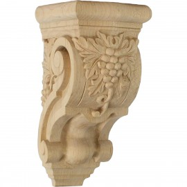 "3 1/2""W x 4 3/8""D x 7 7/8""H Small Grape Bunches Corbel"