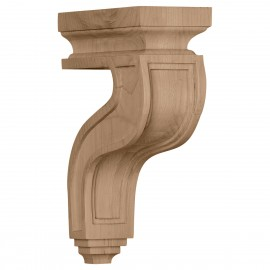 "3 1/2""W x 7 1/4""D x 11""H Hollow Back Corbel"