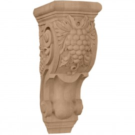 "4 7/8""W x 5 1/2""D x 10 7/8""H Medium Grape Bunches Corbel"