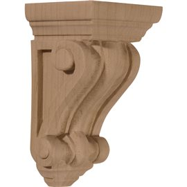 "2 1/4""W x 2 1/4""D x 4 1/4""H Devon Traditional Wood Corbel"