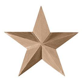 "2 3/4""W x 2 3/4""H x 1/2""P Galveston Star Rosette"