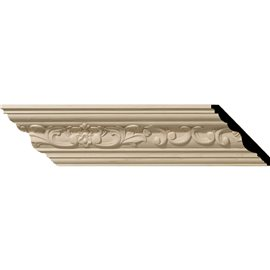 "3 1/2""H x 3 5/8""P x 5""F x 96""L Medway Carved Wood Crown Moulding"