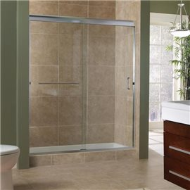 "MRSS9999-CL-SV 3/8"" Frameless Sliding Shower Door"