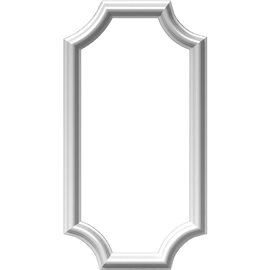 "12""W x 24""H x 1/2""P Ashford Molded Scalloped Picture Frame Panel"