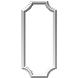 "12""W x 28""H x 1/2""P Ashford Molded Scalloped Picture Frame Panel"