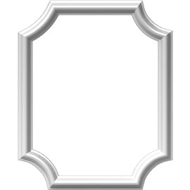"16""W x 20""H x 1/2""P Ashford Molded Scalloped Picture Frame Panel"