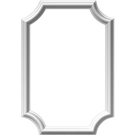 "16""W x 24""H x 1/2""P Ashford Molded Scalloped Picture Frame Panel"