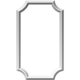 "16""W x 28""H x 1/2""P Ashford Molded Scalloped Picture Frame Panel"