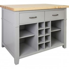 ISL13-GRY-ST Kitchen Island