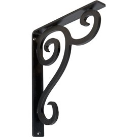 "1 1/2""W x 10""D x 12""H Devon Single, Wrought Iron Bracket, (Single center brace)"