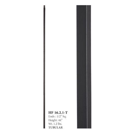 Plain Hollow Aalto/Versatile Iron Baluster Satin Black