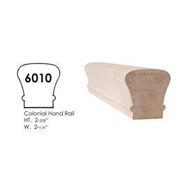 Colonial Style Straight Handrail Red Oak 12 feet