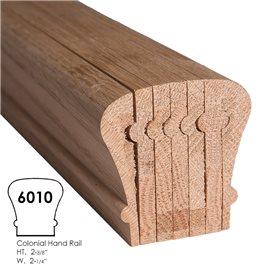 Colonial Style Bending Handrail Red Oak 16 feet