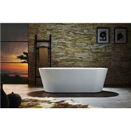 "Virtu USA Serenity VTU-1170 70"" x 31.5"" Freestanding Soaking Bath Tub"
