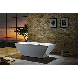 "Virtu USA Serenity VTU-1271 71"" x 31.5"" Freestanding Soaking Bath Tub"