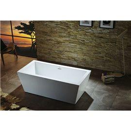 "Virtu USA Serenity VTU-1367 67"" x 27.5"" Freestanding Soaking Bath Tub"