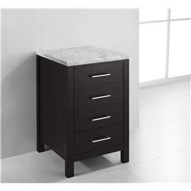 "Caroline Parkway 20"" Transitional Side Cabinet in Espresso"