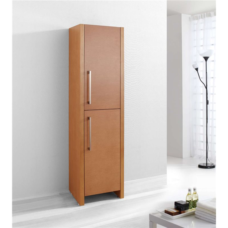 Fresca black bathroom linen side cabinet w 3 large for Bathroom linen cabinets