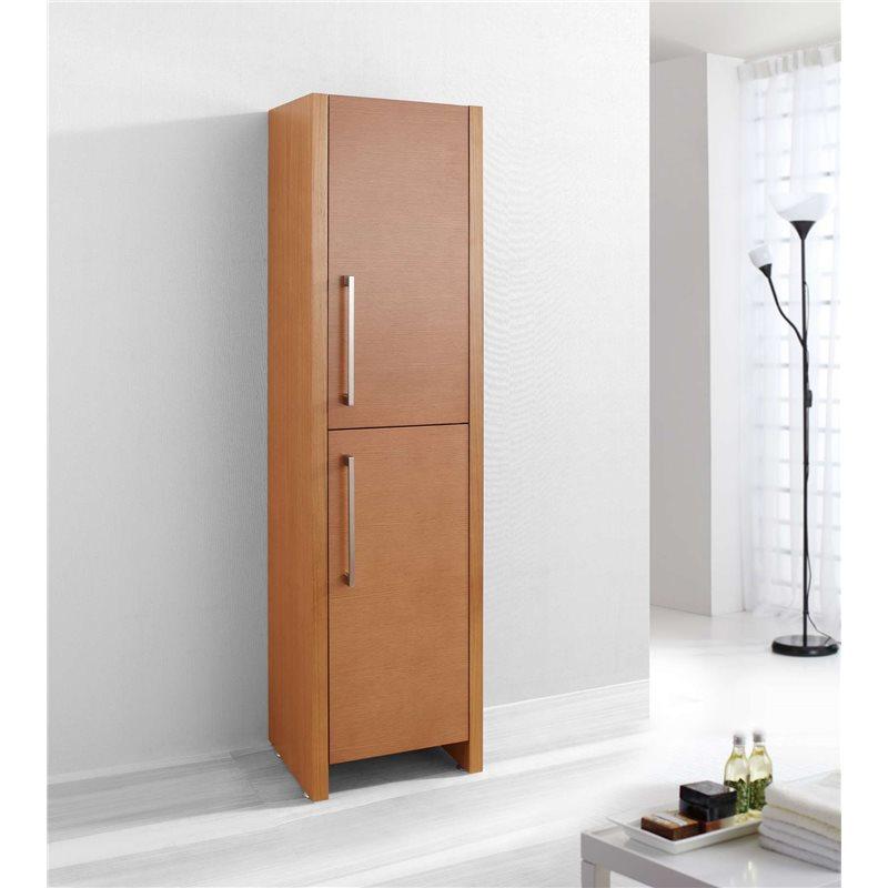 Fresca black bathroom linen side cabinet w 3 large for Bathroom linen cabinets