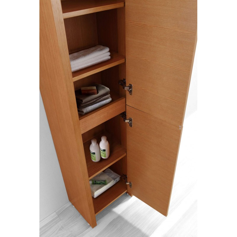 Fresca Black Bathroom Linen Side Cabinet W 4 Cubby Holes