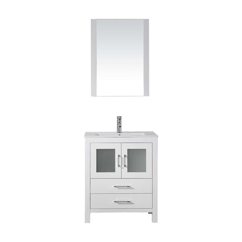 Dior 28 Single Bathroom Vanity Cabinet Set In White