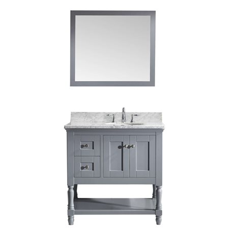 "Julianna 36"" Single Bathroom Vanity Cabinet Set in Grey"